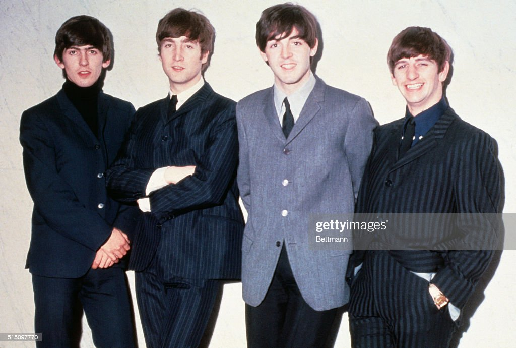 <a gi-track='captionPersonalityLinkClicked' href=/galleries/search?phrase=The+Beatles&family=editorial&specificpeople=90369 ng-click='$event.stopPropagation()'>The Beatles</a> posing together. From left to right: musicians <a gi-track='captionPersonalityLinkClicked' href=/galleries/search?phrase=George+Harrison&family=editorial&specificpeople=90945 ng-click='$event.stopPropagation()'>George Harrison</a>, <a gi-track='captionPersonalityLinkClicked' href=/galleries/search?phrase=John+Lennon&family=editorial&specificpeople=91242 ng-click='$event.stopPropagation()'>John Lennon</a>, <a gi-track='captionPersonalityLinkClicked' href=/galleries/search?phrase=Paul+McCartney&family=editorial&specificpeople=92298 ng-click='$event.stopPropagation()'>Paul McCartney</a> and <a gi-track='captionPersonalityLinkClicked' href=/galleries/search?phrase=Ringo+Starr&family=editorial&specificpeople=92463 ng-click='$event.stopPropagation()'>Ringo Starr</a>.