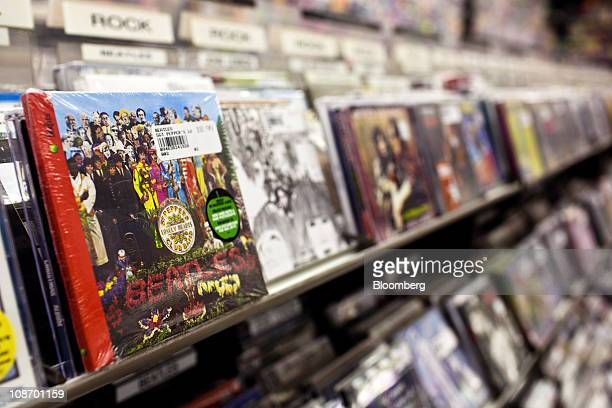 The Beatles 'Sgt Pepper's Lonely Hearts Club Band' album is displayed for sale at Bleeker Bob's record shop in New York US on Tuesday Feb 1 2011 EMI...