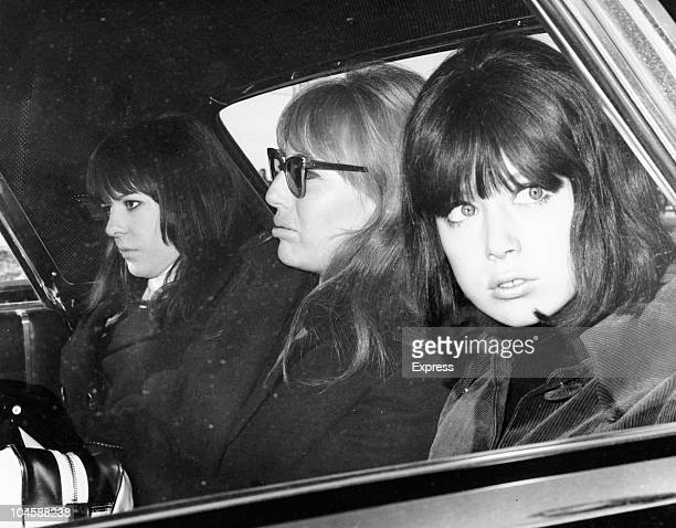 The Beatles' womenfolk from left to right Maureen Starr Cynthia Lennon and Patti Boyd in Obertauern Austria on March 16 1965