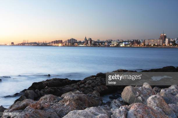 The beautiful coastline of Montevideo