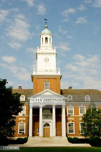 The beautiful exterior of Johns Hopkins on a sunny day