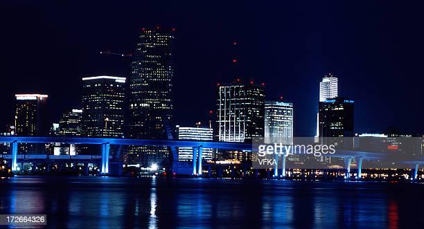 The beautiful Miami skyline at night