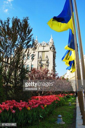 The beautiful old Kiev city - the capital of Ukraine,spring : Foto de stock