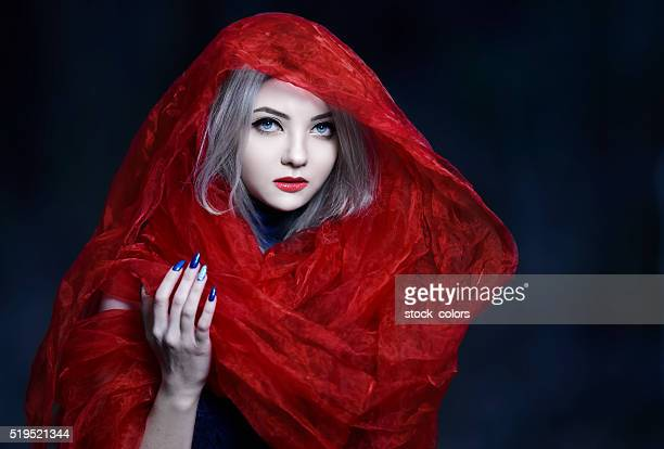 the beautiful red riding hood