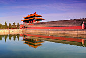 The Beautiful Scenery of the Gate of Devine Might of the Forbidden City