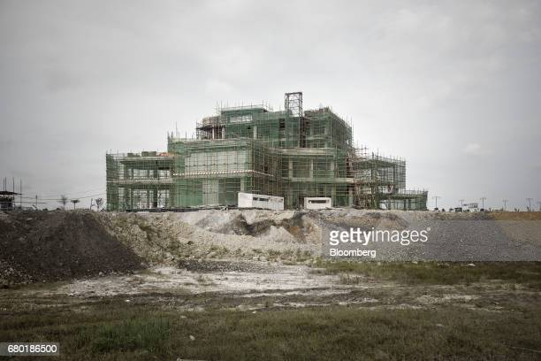 The Beauty Farm International Medical Anti Aging Center stands under construction inside the Hainan Boao Lecheng...
