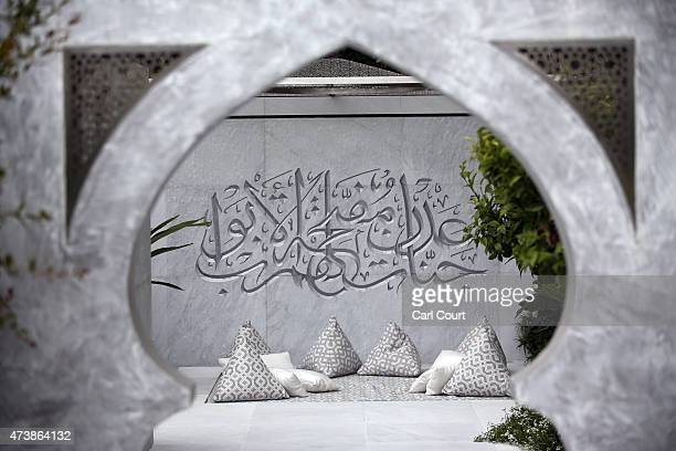 The Beauty of Islam show garden designed by Kamelia Bin Zaal and sponsored by The Outdoor Room is pictured on the press preview day of the Chelsea...