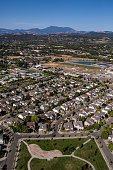 The bedroom community of Windsor located in the Russian River Valley north of Santa Rosa encroaches on prime vineyard land as viewed from the air on...
