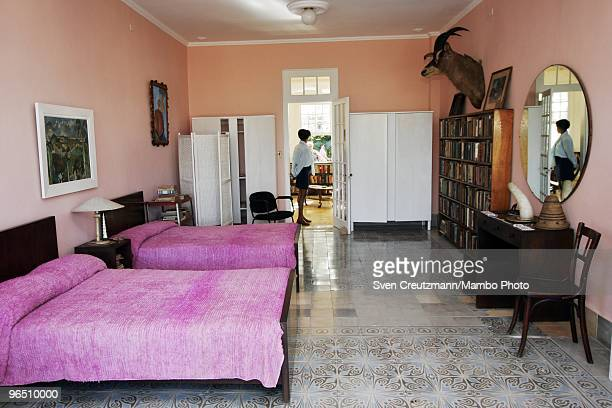 The bedroom of Ernest Hemingway at the Finca Vigia on January 6 2007 in Havana Cuba The Hemingway Finca Vigia now turned into a museum has been...