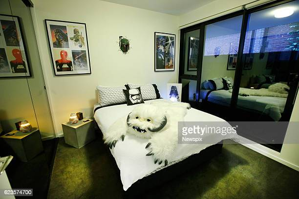 MELBOURNE VIC The bedroom of Marini Tungka's 'Star Wars' themed AirBNB apartment in Melbourne Victoria The apartment is full of memorabilia posters...