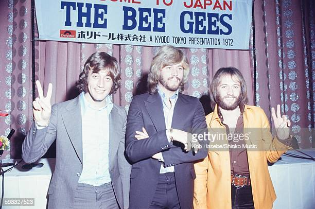 The Bee Gees at press conference Tokyo March 1972