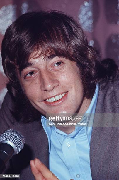 The Bee Gees Robin Gibb at press conference Tokyo March 1972