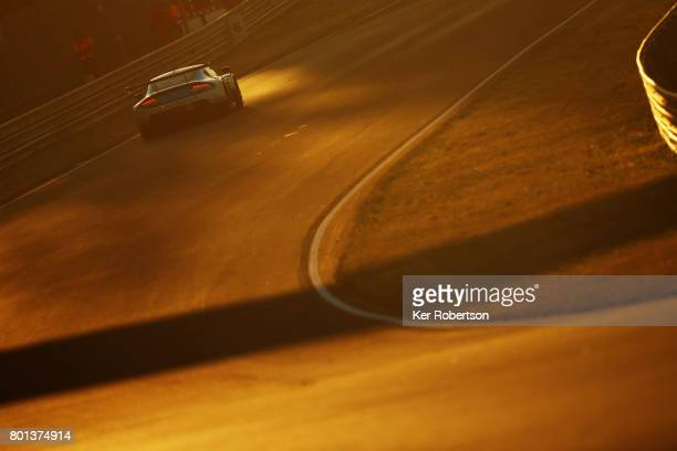 The Beechdean AMR Aston Martin Vantage of Ross Gunn Andrew Howard and Oliver Bryant drives during the Le Mans 24 Hours race at the Circuit de la...