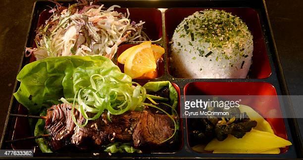 The beef bento box with Korean beef steamed rice housemade pickles and osaka ramen salad at Osaka Ramen in Denver's RiNo neighborhood on Thursday...