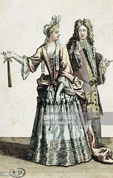 The beginning of a tender relationship ca 1715 engraving France 18th Century Paris Bibliothèque Des Arts Decoratifs