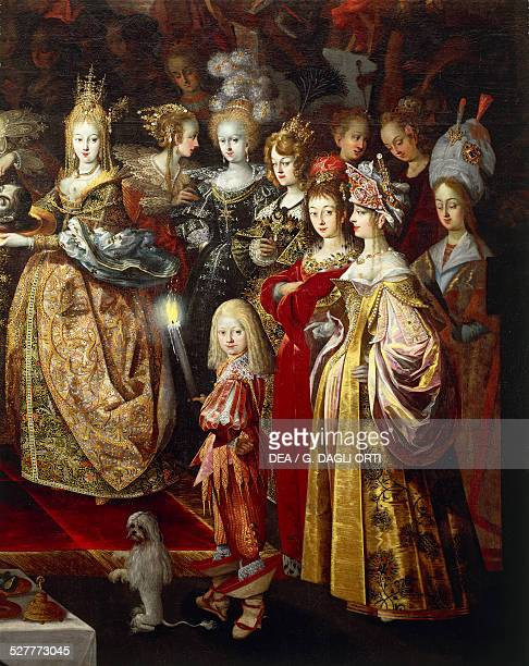 The Beheading of Saint John the Baptist and the Banquet of Herod painting by Bartholomeus Strobel the Younger detail oil on canvas 280x952 cm Poland...