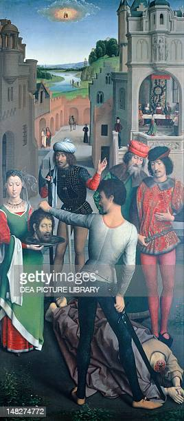 The Beheading of Saint John the Baptist detail from St Catherine Triptych by Hans Memling Bruges Memling Museum