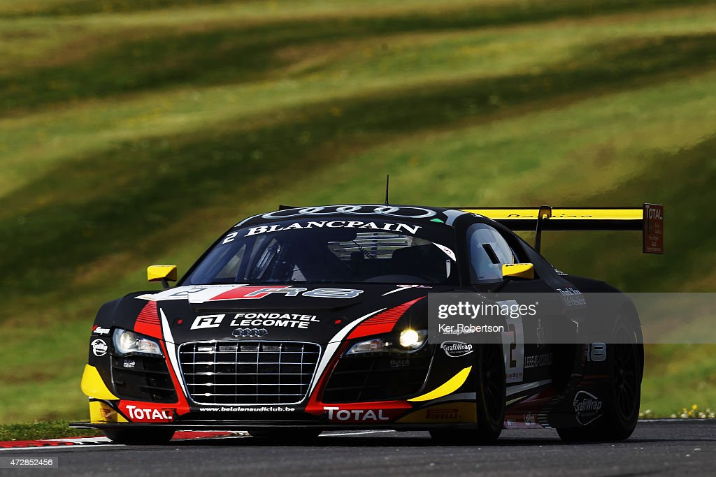 The Belgian Audi Club Team WRT R8 LMS Ultra of Christopher Mies and Enzo Ide drives in the Qualifying Race during the Blancpain GT Sprint Series...