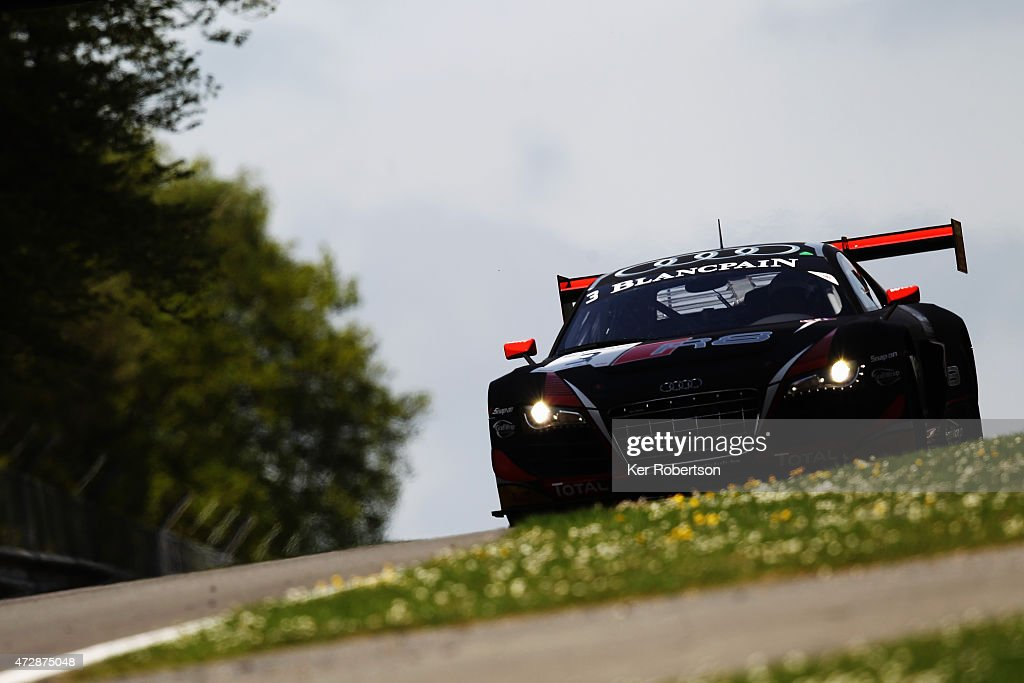 The Belgian Audi Club Team WRT R8 LMS Ultra of Stephane Richelmi and Stephane Ortelli drives in the Qualifying Race during the Blancpain GT Sprint...