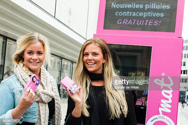 The Belgian organisation Health and Prevention has put up a pink machine in the busy centre of Brusesels distributing free birthcontrol pills In fact...