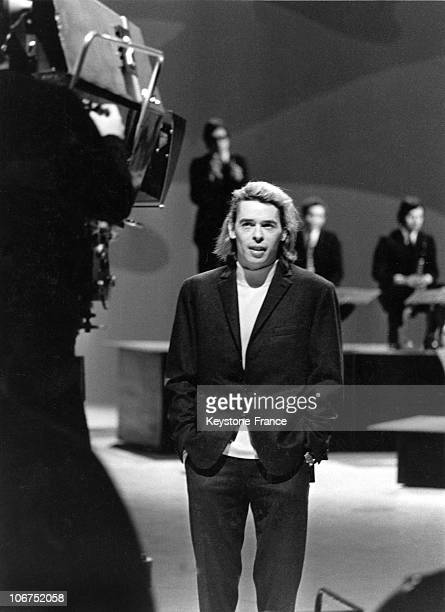 The Belgian Singer Jacques Brel During The Recording Of A Televised Program Entitled AimezVous La Musique In The ORTF'S Studios On February 18 1969