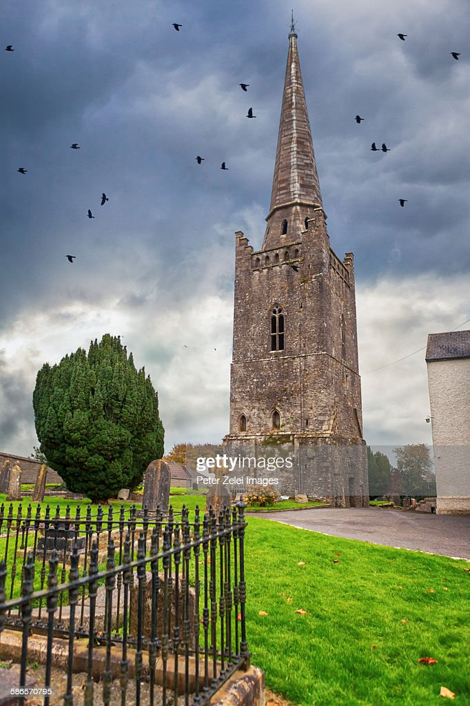 The Bell Tower of St Columba's Church in Kells