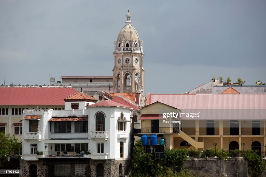 The bell tower of the San Francisco de Asis Church stands in the Casco Viejo neighborhood in Panama City, Panama, on Wednesday, April 23, 2014. Panama has averaged about 9 percent economic growth annually since 2008 and unemployment levels hover near a record low of 4.1 percent. Photographer: Susana Gonzalez/Bloomberg via Getty Images
