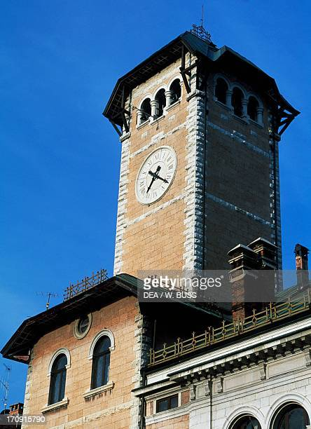 The bell tower of the Town Hall of Asiago Veneto Veneto Italy