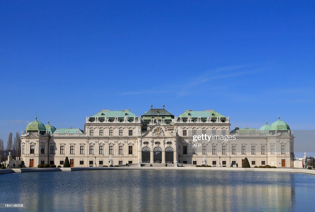 The Belvedere Palace is seen on a clear day in Vienna, Austria on March 20, 2013.