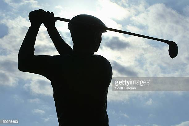 The Ben Hogan statue at the clubhouse after the third round of the Bank of America Colonial Championship at the Colonial Country Club on May 22 2004...