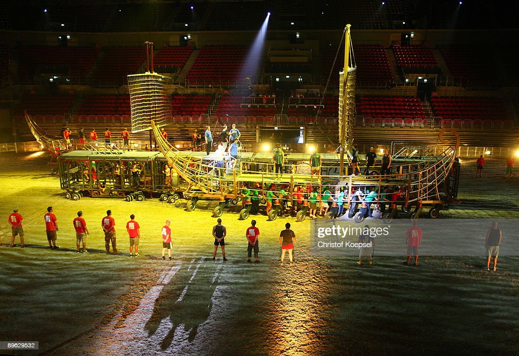 The Ben Hur live show presentation is seen at the ISS Dome on August 6, 2009 in Duesseldorf, Germany.