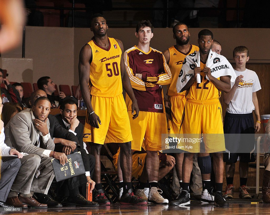The bench of the Canton Charge watches intently in the final minutes of the game against the Maine Red Claws at the Canton Memorial Civic Center on November 23, 2012 in Canton, Ohio.