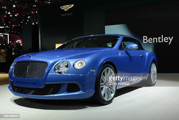 The Bentley Continental GT Speed Convertible is introduced at the 2013 North American International Auto Show in Detroit Michigan on January 14 2013...