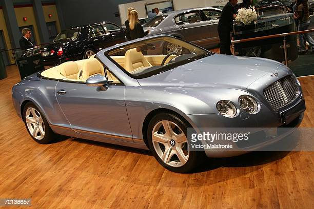 The Bentley Continental GTC is displayed at the 36th Annual South Florida International Auto Show at the Miami Beach Convention Center on October 10...