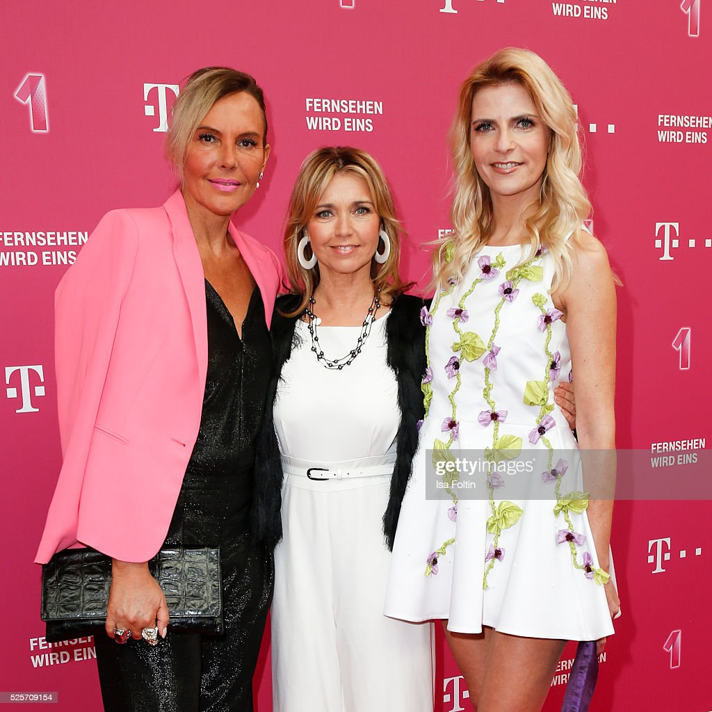 The 'Berlin Blonds' <a gi-track='captionPersonalityLinkClicked' href=/galleries/search?phrase=Natascha+Ochsenknecht&family=editorial&specificpeople=628929 ng-click='$event.stopPropagation()'>Natascha Ochsenknecht</a>, <a gi-track='captionPersonalityLinkClicked' href=/galleries/search?phrase=Tina+Ruland&family=editorial&specificpeople=2214826 ng-click='$event.stopPropagation()'>Tina Ruland</a> and <a gi-track='captionPersonalityLinkClicked' href=/galleries/search?phrase=Tanja+Buelter&family=editorial&specificpeople=221326 ng-click='$event.stopPropagation()'>Tanja Buelter</a> attend the Telekom Entertain TV Night at Hotel Zoo on April 28, 2016 in Berlin, Germany.