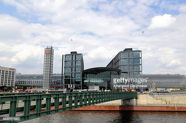 The Berlin Hauptbahnhof the station building from the Spree on July 16 2014 in Berlin Germany Hauptbahnhof is the main railway station in Berlin It...