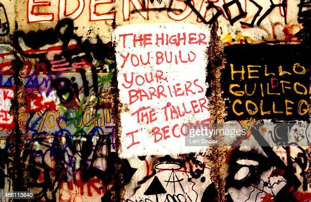 The Berlin Wall at Potsdamer Platz November 14 in Berlin West Germany