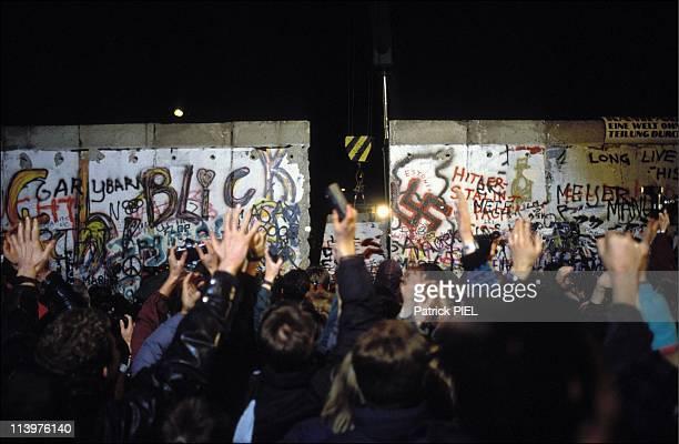 The Berlin Wall opening in Berlin Germany on November 1989