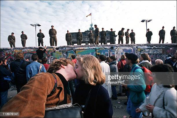 The Berlin Wall opening in Berlin Germany on November 1989