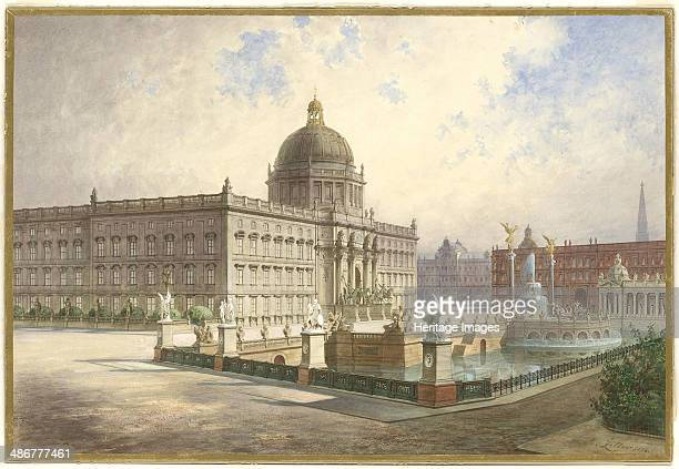 The Berliner Stadtschloss View of the palace facade from the palace bridge 1886 Artist Ziller Hermann