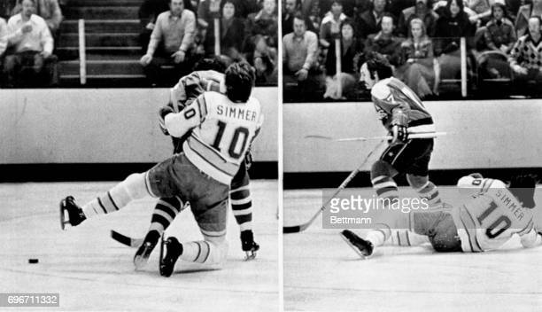 The best defense they say is a good offense and when Washington Capital Yvon Labre stopped Golden Seals Charlie Simmer's charge with the puck they...