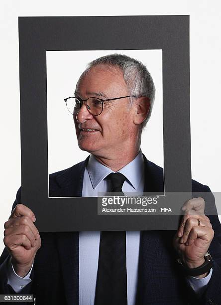 The Best FIFA Men's Coach nominee Claudio Ranieri of Italy and Leicester poses prior to The Best FIFA Football Awards at Kameha Zurich Hotel on...