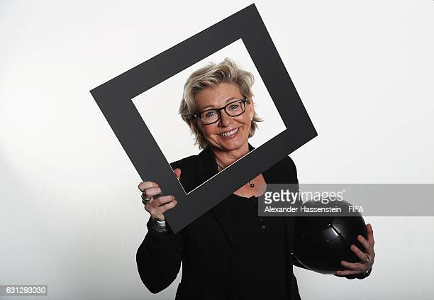 The Best FIFA Women's Coach nominee Silvia Neid of Germany poses prior to The Best FIFA Football Awards at Kameha Zurich Hotel on January 9 2017 in...