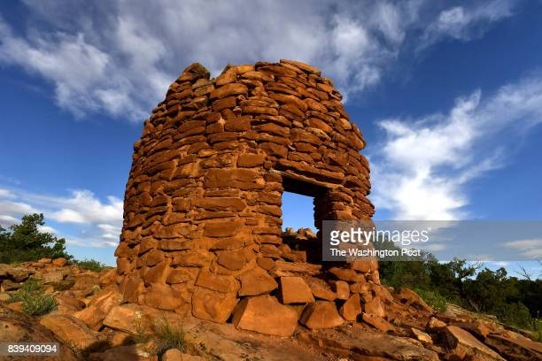 The best preserved of the seven Pueblo ruins that date to the 13th century called Cave Canyon Towers is photographed at Bears Ears National Monument...