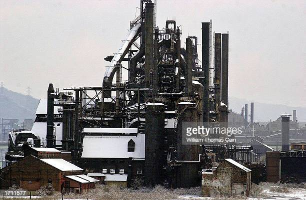 The Bethlehem Steel plant sits idle January 6 2003 in Bethlehem Pennsylvania The plant at company headquarters closed in 1998 International Steel...