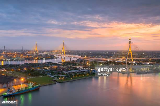 The Bhumibol Bridge in Bangkok Thailand