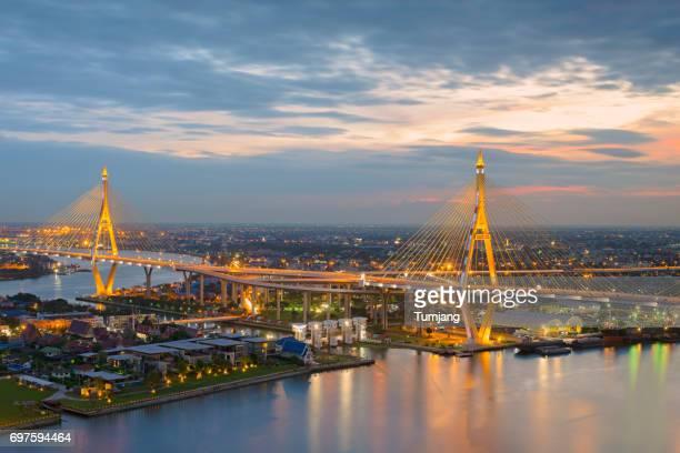 The Bhumibol Bridge in Bangkok,Thailand