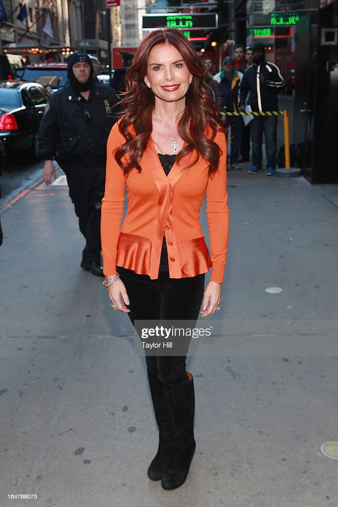 'The Bible' producer Roma Downey visits 'Good Morning America' at GMA Studios in Times Square on March 28, 2013 in New York City.
