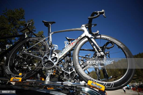 The bicycle of Marcel Kittel of Germany riding for QuickStep Floors is seen prior to stage 7 of the 2017 AMGEN Tour of California on May 20 2017 in...