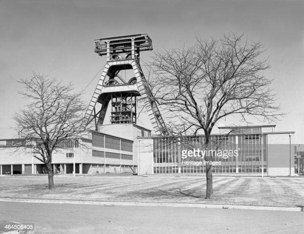 The Big A Hem Heath Colliery Trentham Staffordshire 1960 A view of the headgear of no 2 shaft known as the Big A due to its distinctive shape The pit...
